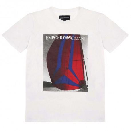 T-shirt chłopięcy z nadrukiem Armani 004222 b