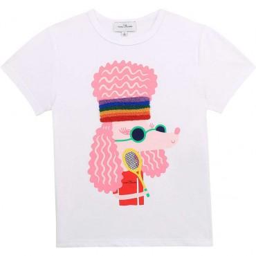 Koszulka dla dziewczynki The Marc Jacobs 004227 a - modne ubrania dla dziewczynek - sklep euroyoung