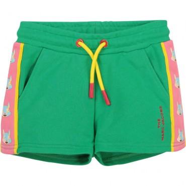 Szorty dziewczęce z bawełny The Marc Jacobs 004228 a - modne ubrania dla dzieci i niemowląt