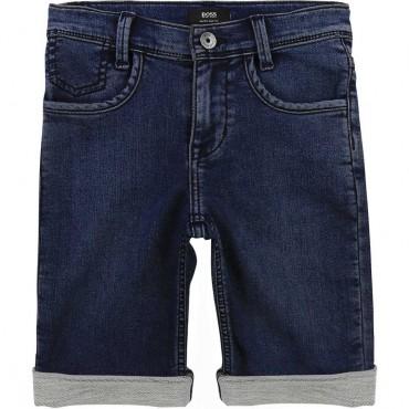 Miękkie szorty dla chłopca Hugo Boss 004230 a - ekskluzywne ubrania dla dzieci