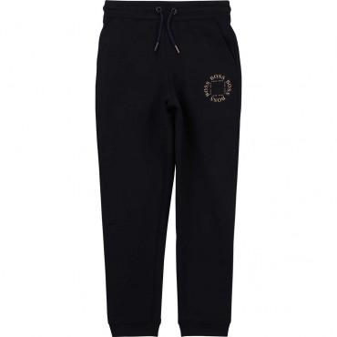 Granatowe spodnie chłopięce Hugo Boss 004231 a - sklep internetowy - euroyoung.pl