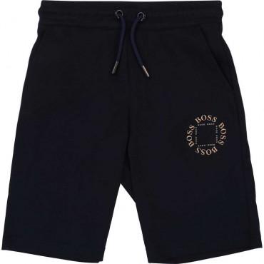 Sportowe szorty dla chłopców Hugo Boss 004233 a - ekskluzywne ubrania dla dzieci