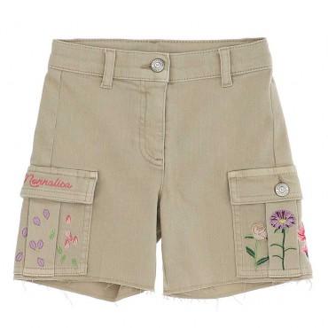 Szorty dziewczęce w stylu safari Monnalisa 004236 a - sklep online dla dzieci