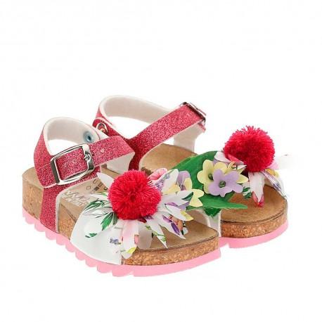 Profilowane sandałki dziewczęce Monnalisa 004237 - obuwie dla dzieci - sklep