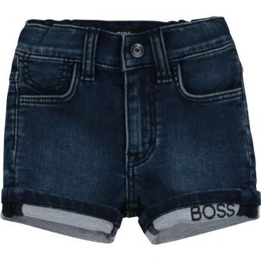Jeansowe szorty dla malucha Hugo Boss 004239 a - ubranka dla niemowląt