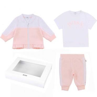 Komplet niemowlęcy dla dziewczynki Boss 004255 - ekskluzywne ubranka dla niemowląt - sklep internetowy