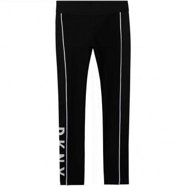 Czarne legginsy dla dziewczynki DKNY 004257 - sklep z odzieżą dla nastolatek