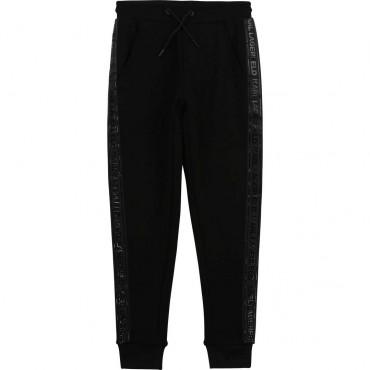 Czarne spodnie dla chłopca Karl Lagerfeld 004262