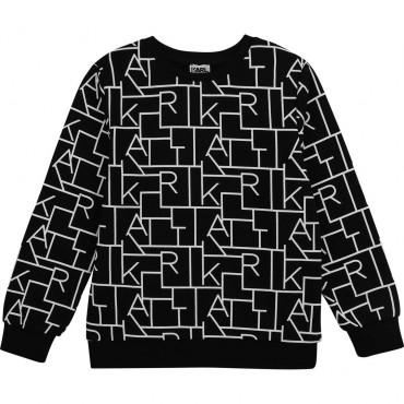 Czarna bluza dla chłopca Karl Lagerfeld 004263