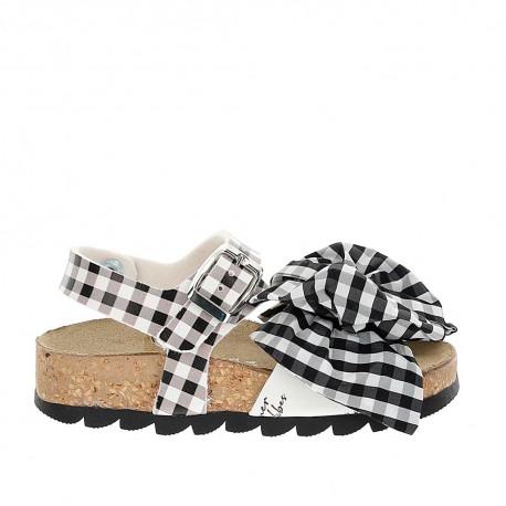 Dziewczęce sandały w kratę Monnalisa 004269 - buty dla dzieci - sklep