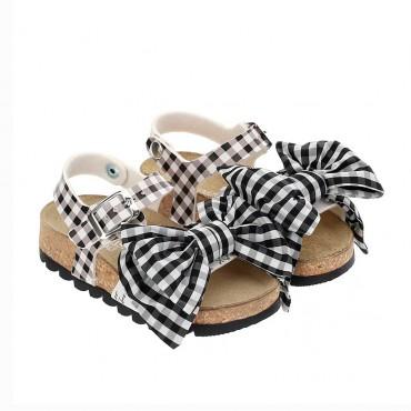 Dziewczęce sandały w kratę Monnalisa 004269 - buty dla malucha - sklep