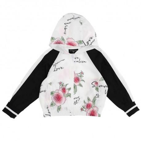 Wiatrówka w kwiaty dla dziecka Monnalisa 004272 - ubrania dla dziewczynek - sklep internetowy