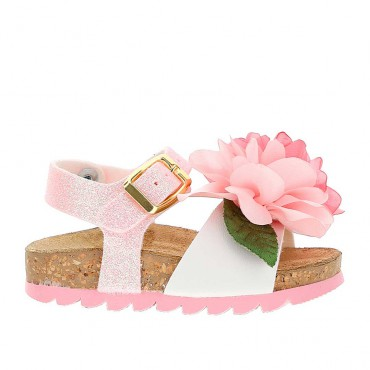 Sandały dla dziewczynki Monnalisa 004274 - ekskluzywne buty dziecięce - sklep internetowy