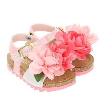Sandały dla dziewczynki Monnalisa 004274 - obuwie dziecięce - sklep