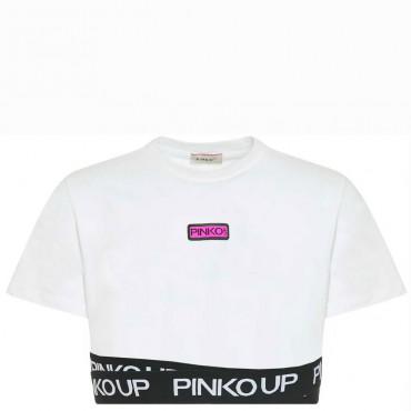Biały crop top dla dziewczynki Pinko Up 004281