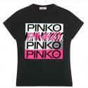 Czarny t- shirt dla dziecka Pinko Up 004283