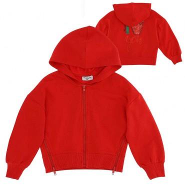 Czerwona bluza dla dziewczynki Monnalisa 004287 - sklep internetowy