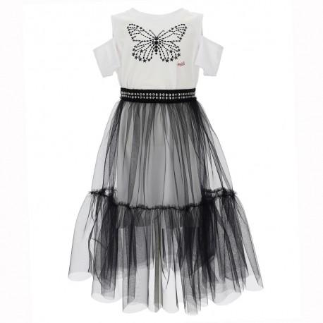 Sukienka dziewczęca ze spódnicą Monnalisa 004289 - sklep internetowy