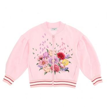 Bawełniana bluza dla dziewczynki Monnalisa 004295