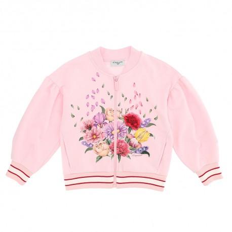 Bawełniana bluza dla dziewczynki Monnalisa 004295 - sklep internetowy
