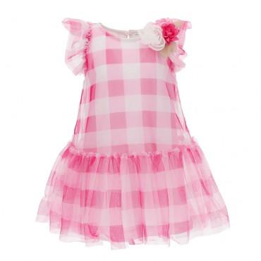 Dziewczęca sukienka w kratę Monnalisa 004297 - sklep internetowy euroyoung.pl