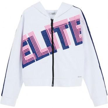 Zapinana na suwak bluza dziewczęca Liu Jo 004302 - ubrania dla dzieci - sklep internetowy euroyoung.pl