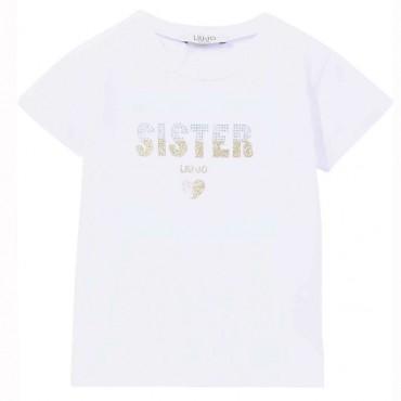 Koszulka dla dziewczynki Sister Liu Jo 004306 - ubrania dla dzieci - sklep internetowy euroyoung.pl