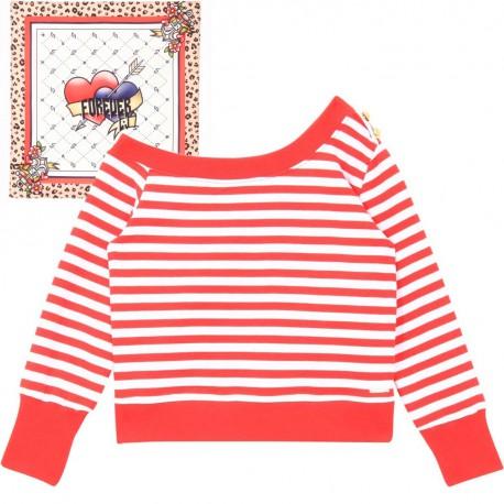 Dziewczęca bluza w pasy Liu Jo 004310 - ubrania dla nastolatek - sklep internetowy euroyoung.pl