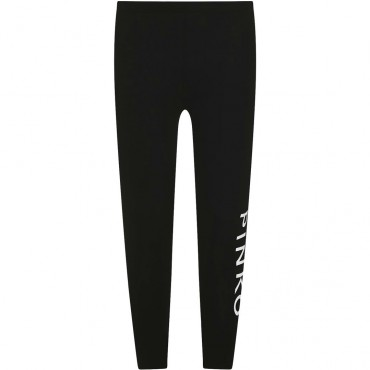 Czarne legginsy dla dziewczynki Pinko Up 004313 - ubrania dla nastolatek - sklep internetowy euroyoung.pl