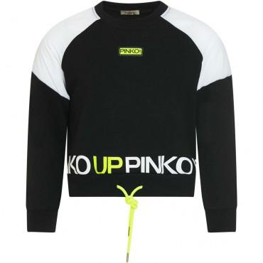 Czarno-biała bluza dziewczęca Pinko Up 004318 - ubrania młodzieżowe - sklep internetowy euroyoung.pl