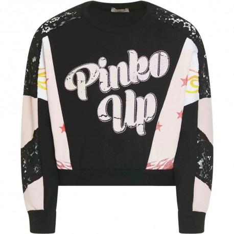 Dziewczęca bluza z koronką Pinko Up 004321 - ubrania dla nastolatek - sklep internetowy euroyoung.pl