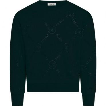 Czarna bluza dziewczęca Pinko Up 004329 - ekskluzywne ubrania dla dzieci - sklep internetowy euroyoung.pl