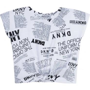 Drukowana bluzka dla dziewczynki DKNY 004331 - ubrania dla dzieci - sklep internetowy euroyoung.pl