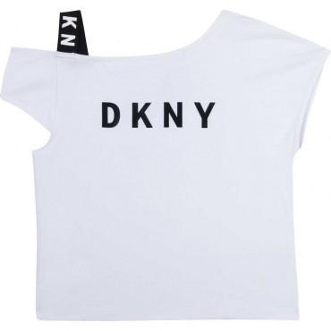 Asymetryczna bluzka dziewczęca DKNY 004333 - ubrania dla dzieci - sklep internetowy euroyoung.pl