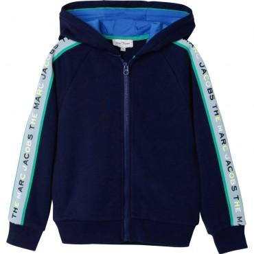 Granatowa bluza chłopięca The Marc Jacobs 004335 - ekskluzywna odzież dla dzieci - sklep internetowy euroyoung.pl