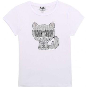 Koszulka dla dziewczynki Karl Lagerfeld 004338 - ekskluzywna odzież dziecięca - sklep internetowy euroyoung.pl