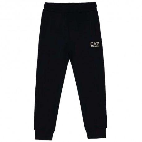Czarne spodnie dresowe dla chłopca EA7 004345 - ubrania dla dzieci - sklep internetowy euroyoung.pl