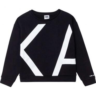 Czarna bluza dla dziewczyny Karl Lagerfeld 004355 - ubrania dla dzieci i niemowląt - internetowy sklep euroyoung.pl