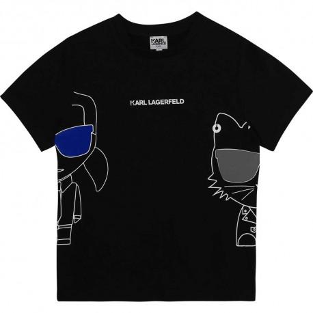 Czarny t-shirt dla chłopca Karl Lagerfeld 004356 - ubrania dla dzieci - sklep internetowy euroyoung.pl