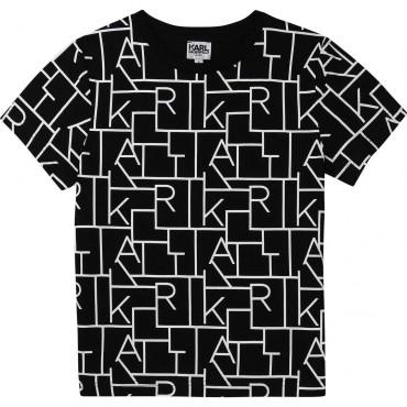 T-shirt dla chłopca Digikarl Karl Lagerfeld 004357 - ubrania dla dzieci - internetowy sklep euroyoung.pl