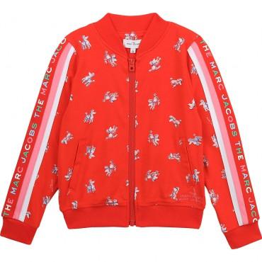 Czerwona bluza dziewczęca The Marc Jacobs 004361 - ubranka dla dzieci - sklep internetowy euroyoung.pl