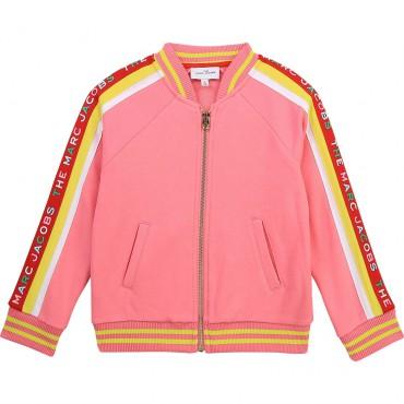 Dziewczęca bluza bomberka The Marc Jacobs 004362 - ubranka dla dzieci - internetowy sklep euroyoung.pl