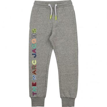 Szare spodnie dla chłopca The Marc Jacobs 004365 - ubranka dla dzieci - internetowy sklep dla dzieci i niemowląt