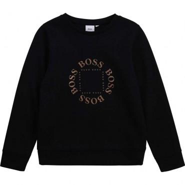 Klasyczna bluza chłopięca z logo Hugo Boss 004374