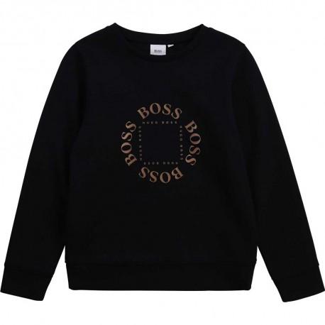 Klasyczna bluza chłopięca z logo Hugo Boss 004374 - ubrania dla dzieci - sklep internetowy euroyoung.pl