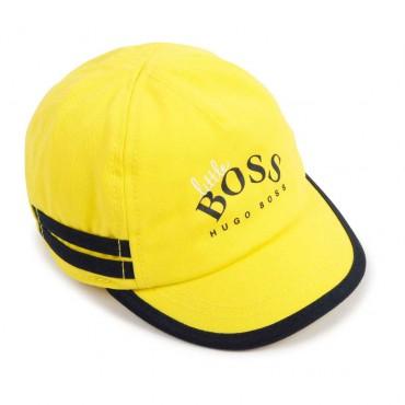 Niemowlęca czapeczka z daszkiem Hugo Boss 004375 - ubranka dla niemowląt - sklep internetowy euroyoung.pl