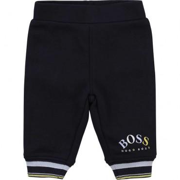 Spodnie dresowe dla niemowlęcia Hugo Boss 004376 - ubranka dla niemowląt - sklep internetowy euroyoung.pl