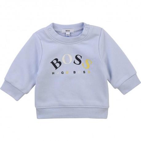 Jasnoniebieska bluza niemowlęca Hugo Boss 004377 - ubranka dla niemowląt - internetowy sklep euroyoung.pl