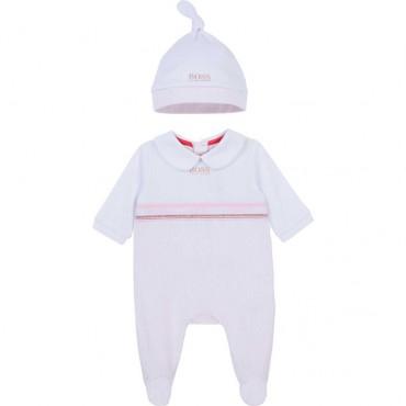 Pajacyk niemowlęcy + czapeczka Hugo Boss  004379