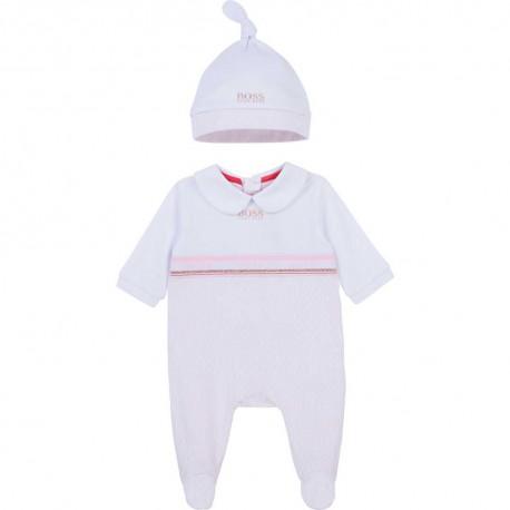Pajacyk niemowlęcy + czapeczka Hugo Boss  004379 - ubranka dla niemowląt - internetowy sklep euroyoung.pl